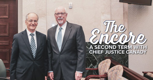 Chief Justice Canady and Ninth Judicial Circuit Chief Judge Fred Lauten