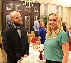 Mr. Frank Stockman, the institute's mentor-teacher, and Ms Jenny Gulli, who teaches at Osceola Creek Middle School, relish the rigors of the Court Teacher Institute program, but they also enjoy the opportunities to talk informally with the justices and to share ideas with other teachers from across the state.
