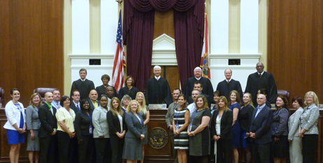 Florida Supreme Court Teacher Institute participants.